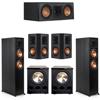 Klipsch 5.2 Ebony System - 2 RP-6000F, 1 RP-500C, 2 RP-502S, 2 PL-300
