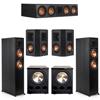 Klipsch 5.2 Ebony System - 2 RP-6000F, 1 RP-504C, 2 RP-402S, 2 PL-300