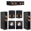 Klipsch 5.2 Ebony System - 2 RP-6000F, 1 RP-504C, 2 RP-502S, 2 PL-300
