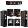 Klipsch 5.2 Ebony System - 2 RP-6000F, 1 RP-504C, 2 RP-600M, 2 PL-300