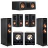 Klipsch 5.2 Ebony System - 2 RP-6000F, 1 RP-600C, 2 RP-402S, 2 PL-300