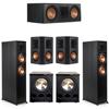 Klipsch 5.2 Ebony System - 2 RP-6000F, 1 RP-600C, 2 RP-502S, 2 PL-300