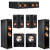 Klipsch 5.2 Ebony System - 2 RP-8000F, 1 RP-404C, 2 RP-402S, 2 PL-300