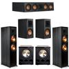 Klipsch 5.2 Ebony System - 2 RP-8000F, 1 RP-404C, 2 RP-500M, 2 PL-300