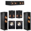 Klipsch 5.2 Ebony System - 2 RP-8000F, 1 RP-404C, 2 RP-502S, 2 PL-300