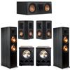 Klipsch 5.2 Ebony System - 2 RP-8000F, 1 RP-500C, 2 RP-402S, 2 PL-300