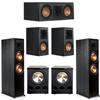 Klipsch 5.2 Ebony System - 2 RP-8000F, 1 RP-500C, 2 RP-500M, 2 PL-300