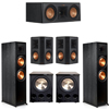 Klipsch 5.2 Ebony System - 2 RP-8000F, 1 RP-500C, 2 RP-502S, 2 PL-300