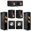 Klipsch 5.2 Ebony System - 2 RP-8000F, 1 RP-500C, 2 RP-600M, 2 PL-300