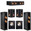Klipsch 5.2 Ebony System - 2 RP-8000F, 1 RP-504C, 2 RP-402S, 2 PL-300