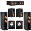 Klipsch 5.2 Ebony System - 2 RP-8000F, 1 RP-504C, 2 RP-500M, 2 PL-300