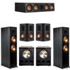 Klipsch 5.2 Ebony System - 2 RP-8000F, 1 RP-504C, 2 RP-502S, 2 PL-300