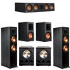 Klipsch 5.2 Ebony System - 2 RP-8000F, 1 RP-504C, 2 RP-600M, 2 PL-300