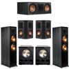 Klipsch 5.2 Ebony System - 2 RP-8000F, 1 RP-600C, 2 RP-402S, 2 PL-300