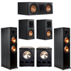 Klipsch 5.2 Ebony System - 2 RP-8000F, 1 RP-600C, 2 RP-500M, 2 PL-300