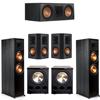 Klipsch 5.2 Ebony System - 2 RP-8000F, 1 RP-600C, 2 RP-502S, 2 PL-300