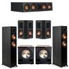 Klipsch 5.2 Ebony System - 2 RP-5000F, 1 RP-404C, 2 RP-402S, 2 PL-200II
