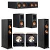 Klipsch 5.2 Ebony System - 2 RP-5000F, 1 RP-404C, 2 RP-500M, 2 PL-200II