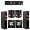 Klipsch 5.2 Ebony System - 2 RP-5000F, 1 RP-404C, 2 RP-502S, 2 PL-200II