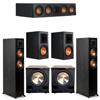 Klipsch 5.2 Ebony System - 2 RP-5000F, 1 RP-404C, 2 RP-600M, 2 PL-200II