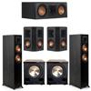 Klipsch 5.2 Ebony System - 2 RP-5000F, 1 RP-500C, 2 RP-402S, 2 PL-200II