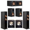 Klipsch 5.2 Ebony System - 2 RP-5000F, 1 RP-500C, 2 RP-500M, 2 PL-200II