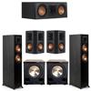 Klipsch 5.2 Ebony System - 2 RP-5000F, 1 RP-500C, 2 RP-502S, 2 PL-200II