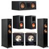 Klipsch 5.2 Ebony System - 2 RP-5000F, 1 RP-500C, 2 RP-600M, 2 PL-200II