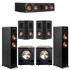 Klipsch 5.2 Ebony System - 2 RP-5000F, 1 RP-504C, 2 RP-402S, 2 PL-200II