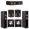 Klipsch 5.2 Ebony System - 2 RP-5000F, 1 RP-504C, 2 RP-502S, 2 PL-200II