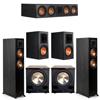 Klipsch 5.2 Ebony System - 2 RP-5000F, 1 RP-504C, 2 RP-600M, 2 PL-200II