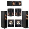 Klipsch 5.2 Ebony System - 2 RP-5000F, 1 RP-600C, 2 RP-402S, 2 PL-200II