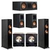 Klipsch 5.2 Ebony System - 2 RP-5000F, 1 RP-600C, 2 RP-500M, 2 PL-200II