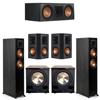Klipsch 5.2 Ebony System - 2 RP-5000F, 1 RP-600C, 2 RP-502S, 2 PL-200II