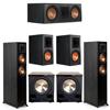 Klipsch 5.2 Ebony System - 2 RP-5000F, 1 RP-600C, 2 RP-600M, 2 PL-200II