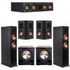 Klipsch 5.2 Ebony System - 2 RP-6000F, 1 RP-404C, 2 RP-402S, 2 PL-200II