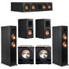 Klipsch 5.2 Ebony System - 2 RP-6000F, 1 RP-404C, 2 RP-500M, 2 PL-200II