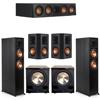 Klipsch 5.2 Ebony System - 2 RP-6000F, 1 RP-404C, 2 RP-502S, 2 PL-200II