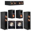 Klipsch 5.2 Ebony System - 2 RP-6000F, 1 RP-404C, 2 RP-600M, 2 PL-200II