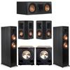 Klipsch 5.2 Ebony System - 2 RP-6000F, 1 RP-500C, 2 RP-402S, 2 PL-200II