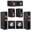 Klipsch 5.2 Ebony System - 2 RP-6000F, 1 RP-500C, 2 RP-500M, 2 PL-200II