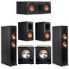 Klipsch 5.2 Ebony System - 2 RP-6000F, 1 RP-500C, 2 RP-600M, 2 PL-200II