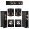 Klipsch 5.2 Ebony System - 2 RP-6000F, 1 RP-504C, 2 RP-402S, 2 PL-200II