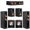 Klipsch 5.2 Ebony System - 2 RP-6000F, 1 RP-504C, 2 RP-500M, 2 PL-200II