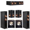 Klipsch 5.2 Ebony System - 2 RP-6000F, 1 RP-504C, 2 RP-502S, 2 PL-200II