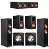 Klipsch 5.2 Ebony System - 2 RP-6000F, 1 RP-504C, 2 RP-600M, 2 PL-200II