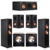 Klipsch 5.2 Ebony System - 2 RP-6000F, 1 RP-600C, 2 RP-402S, 2 PL-200II