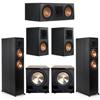 Klipsch 5.2 Ebony System - 2 RP-6000F, 1 RP-600C, 2 RP-500M, 2 PL-200II