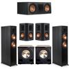 Klipsch 5.2 Ebony System - 2 RP-6000F, 1 RP-600C, 2 RP-502S, 2 PL-200II