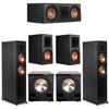 Klipsch 5.2 Ebony System - 2 RP-6000F, 1 RP-600C, 2 RP-600M, 2 PL-200II